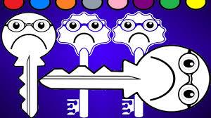 colorful keys key coloring coloring kindergarten