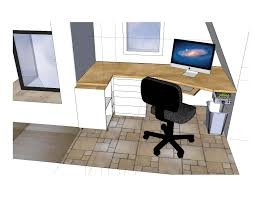 brown wooden imac computer desk with shelves added by black swivel