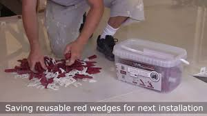 how to prepare floor and tile with t lock tile leveling system by