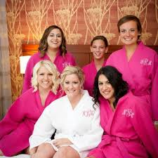 and bridesmaid robes waffle weave wedding robes waffle weave