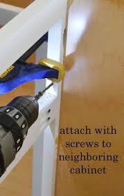 screws to hang cabinets installing kitchen cabinets momplex vanilla kitchen ana white