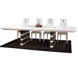 white lacquer mirrored dining table