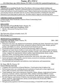 family nurse practitioner resume templates pediatric nurse practitioner residency