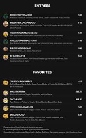 maui menus frida u0027s mexican beach house