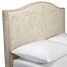 missoni white camelback upholstered headboard