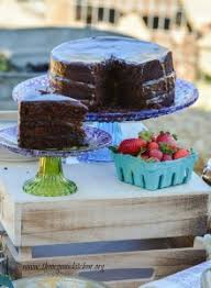 the farmstead party and chocolate salted caramel cake the
