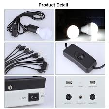 Indoor Solar Lights by 5w Solar Power Panel Led Light Lamp Usb Charger Outdoor Garden
