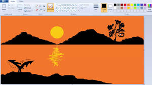 how to draw thanksgiving how to draw and paint a natural scenery on windows 7 ms paint