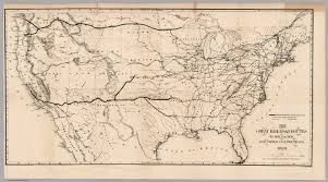 New York Central Railroad Map by Railroad Routes To The Pacific David Rumsey Historical Map