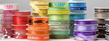 personalized satin ribbon two create custom ribbons with a name or monogram