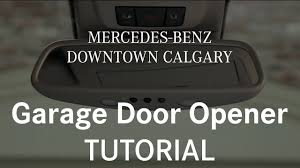 Syncing Garage Door Opener With Car by How To Program And Use Your Garage Door Opener Mercedes Benz