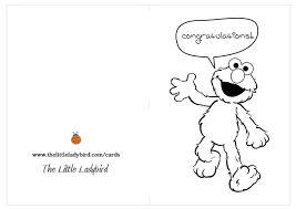 greeting card elmo says congratulations coloring pages the little