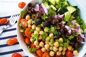 healthy grocery simple greek salad