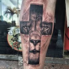 lion cross tattoo u2026 pinteres u2026