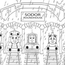 coloring pages thomas train friends archives mente beta