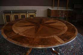 dining solid walnut arts and crafts expandable round dining