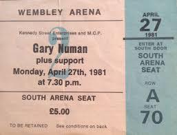 gary numan farewell concert wembley arena 27th april 1981