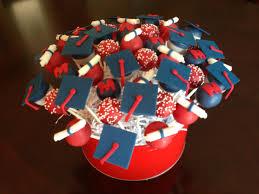 red white and blue graduation cake pops cake pops pinterest