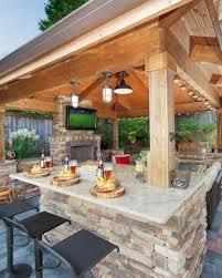 backyard kitchen design ideas outdoor kitchen design ideas for your stunning kitchen 31 deck