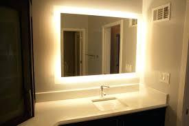 Lit Bathroom Mirror Back Lit Bathroom Mirror Back Lit Vanity Mirror Design Build Pros