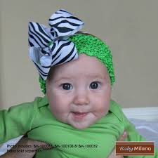 baby hair bows baby hair bow zebra lime green baby