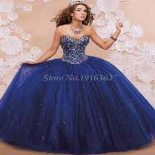 royal blue 2016 elegant quinceanera dresses sweetheart beading