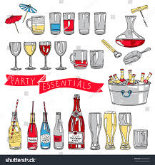 vector collection vintage party essentials icons stock vector