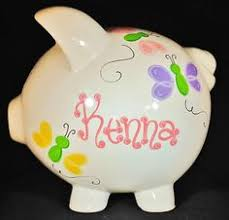 Baptism Piggy Bank Personalized Elephant Piggy Bank Girls Boys For Elephant Nursery