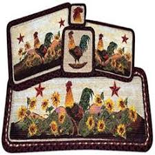 Round Rooster Rug Rooster Rugs