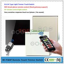 wifi controlled light switch gang 1 load smart phone app wifi remote control or rf remote control