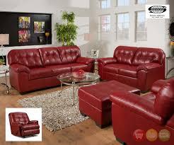 Simmons Upholstery Soho Cardinal Contemporary Sofa Set Red Simmons Upholstery 9569