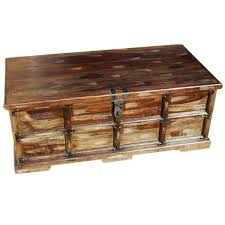 Rustic Coffee Table Trunk Beaufort Steamer Storage Trunk Rustic Coffee Table Chest Ezol Decor
