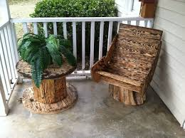 Cable Reel Chair Cable Spool Chairs U2013 Earthy Inspired