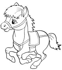 dessin à colorier les chevaux coloriage à imprimer un cheval