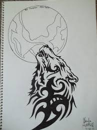 wolf howling at the moon by quietgirl294 on deviantart