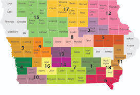 Map Of Iowa Counties 1st Five Home
