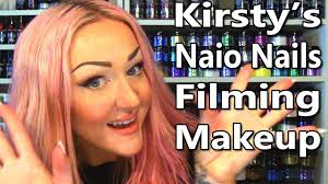 kirsty meakin does her naio nails filming makeup youtube