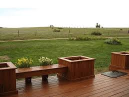 Deck Planters And Benches - 26 best deck ideas images on pinterest deck benches backyard