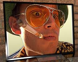 Fear Loathing Halloween Costume Fear Loathing Las Vegas Canvas Print Portrait