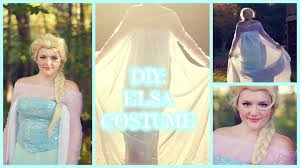 diy frozen elsa halloween costume youtube