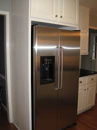 Fridge Cabinet Size Furniture Enchanting Kitchen Interior Decorating Design With