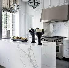 carrara marble kitchen island white marble waterfall kitchen island ellajanegoeppinger com