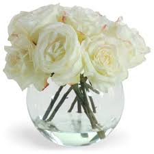 White Roses In A Vase Artificial White Rosesuvuqgwtrke