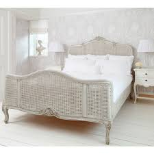 french grey painted rattan bed luxury bed
