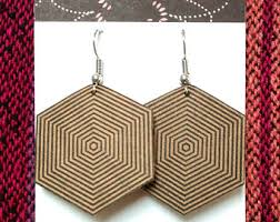 cardboard earrings mint green and gold rhombus recycled cardboard earrings