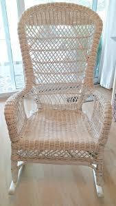 White Wicker Rocking Chair Outdoor Vintage Wicker Rocking Chair Makeover Little Vintage Cottage