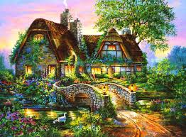 cottage tag wallpapers page 7 painted cottage garden flowers