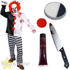 Scary Clown Halloween Costumes Men Scary Clown Costume Ebay