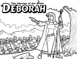samuel coloring pages from the bible deborah the bible heroes coloring page sunday superheroes