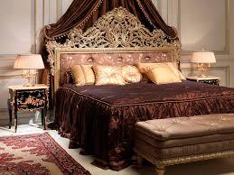 double bed louis xv style walnut emperador gold vimercati